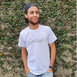 Camiseta Gratidão Letreiro | Branca | Pecado Zero