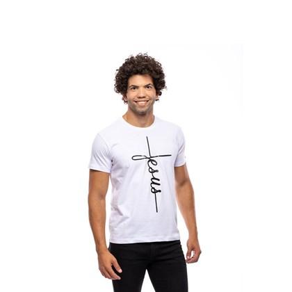 Camiseta Jesus da Cruz | Branca | Pecado Zero | G
