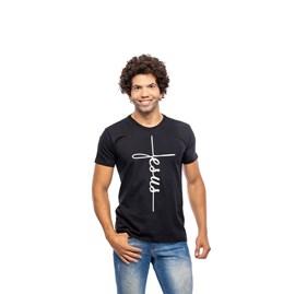Camiseta Jesus da Cruz   Preta   Pecado Zero   GG