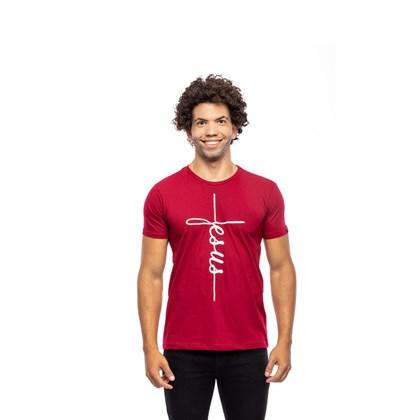 Camiseta Jesus da Cruz | Vinho | Pecado Zero | G