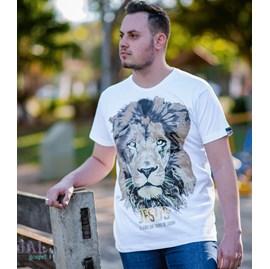 Camiseta Jesus Leão da Tribo | Branca | Pecado Zero | GG