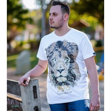 Camiseta Jesus Leão da Tribo | Branca | Pecado Zero | M