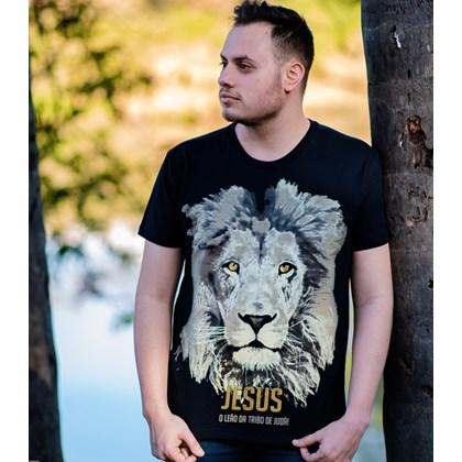 Camiseta Jesus Leão da Tribo   Preta   Pecado Zero   GG
