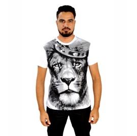 Camiseta Leão Coroa | Branca | Pecado Zero | GG