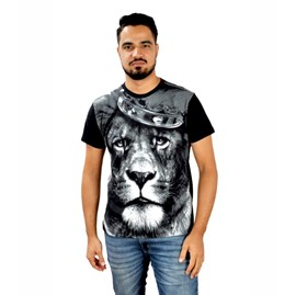 Camiseta Leão Coroa | Preta | Pecado Zero | GG