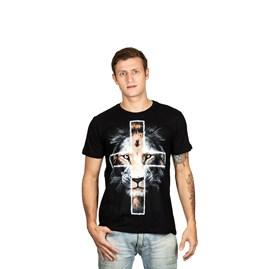 Camiseta Leão da Cruz | Preta | Pecado Zero | M