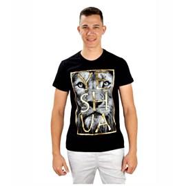 Camiseta Leão Yeshua | Preta | Pecado Zero | GG