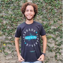 Camiseta Liberdade   Preta   Pecado Zero