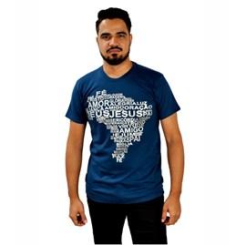 Camiseta Mapa do Brasil | Azul | Pecado Zero | GG