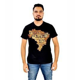 Camiseta Mapa do Brasil | Preta | Pecado Zero | GG