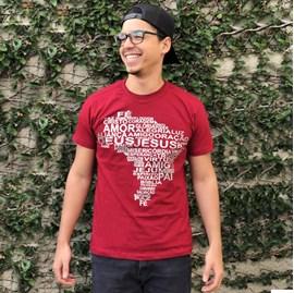 Camiseta Mapa do Brasil | Vinho | Pecado Zero | P