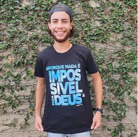 Camiseta Por que Nada é Impossível | Preta | Pecado Zero