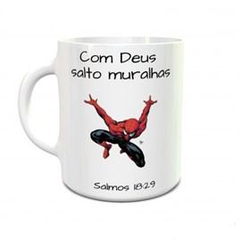 Caneca Com Deus salto mulharas (Homem Aranha)