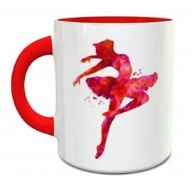 Caneca Personalizada Bailarina | Vermelho