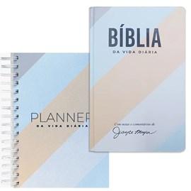 Combo Bíblia e Planner da Vida Diária 2021 Joyce Meyer | Listrada Azul