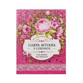 Harpa Avivada e Corinhos Médio | Letra Gigante | Floral Pink Capa Dura
