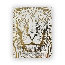 Harpa Avivada e Corinhos Médio | Letra Gigante | Leão Branco Capa Dura