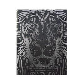 Harpa Avivada e Corinhos Médio | Letra Gigante | Leão Preto Capa Dura