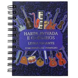 Harpa Avivada e Corinhos Notas Musicais Luxo | Capa Dura Espiral