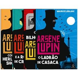 Kit 4 Livros Clássicos | Arsène Lupin | Maurice Leblanc