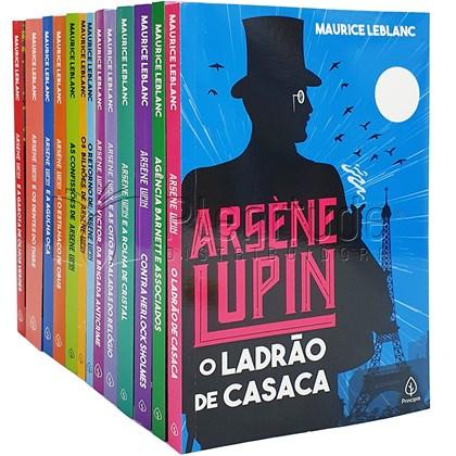 Kit de 13 Livros   As Aventuras de Arsene Lupin   Maurice Leblanc