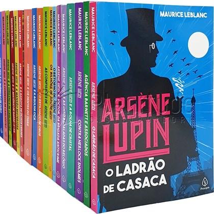 Kit de 18 Livros | Grandes Aventuras de Arsene Lupin | Completo