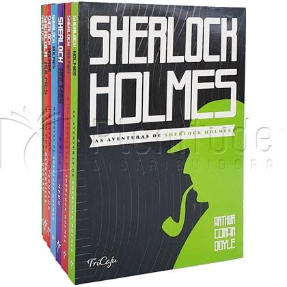 Kit de 7 Livros   As Aventuras de Sherlock Holmes   Arthur Conan Doyle   Tricaju