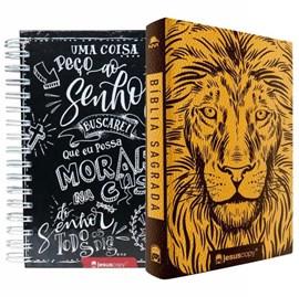 Kit Jesus Copy | Agenda Lettering & Bíblia Leão Luxo