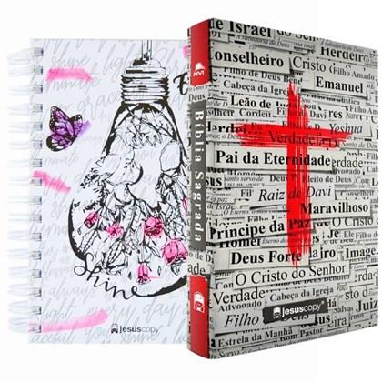 Kit Jesus Copy | Agenda Shine & Bíblia Cruz