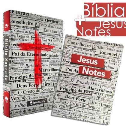 Kit Jesus Copy   Bíblia Cruz & Jesus Notes