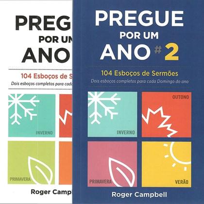 Kit Pregue Por Um Ano | 1 e 2 | Roger Campbell