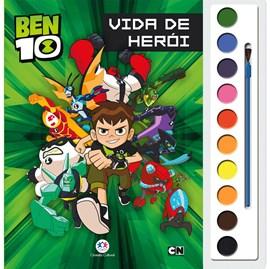 Livro com Aquarela Ben 10 | Vida de herói
