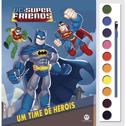 Livro com Aquarela DC Super Friends