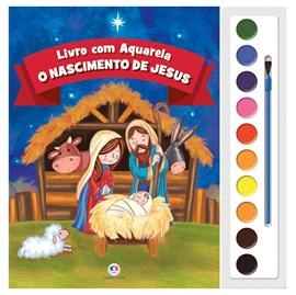 Livro com Aquarela O Nascimento de Jesus