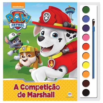 Livro com Aquarela Patrulha Canina A Competição de Marshall