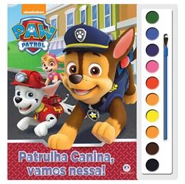 Livro com Aquarela Patrulha Canina PAW Control, Vamos Nessa!