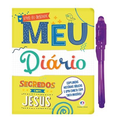 Meu Diário Segredos com Jesus   C/ Caneta de Tinta Invísvel