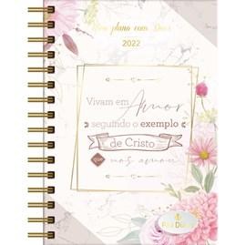 Meu Plano com Deus | Planner 2022 | Exemplo de Cristo | Capa Rosa
