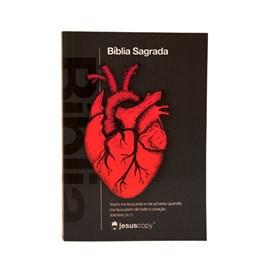 Mini Bíblia Coração Chumbo NAA | Brochura | Jesus Copy