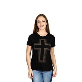 Mini Veste Cruz de Cristo | Preta | Pecado Zero