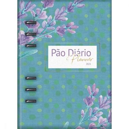 Pão Diário Planner 2021   Capa Azul Fichário