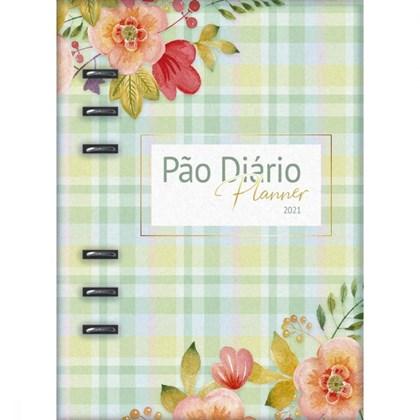 Pao Diário Planner 2021   Capa Verde Fichário