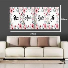 Quadro Canvas Personalizado A4 | Flores Rosa