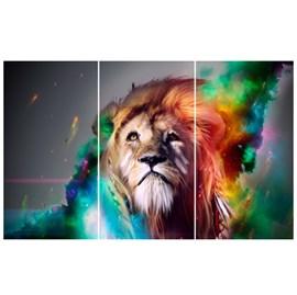 Quadro Canvas Personalizado A4 | Leão Aquarela