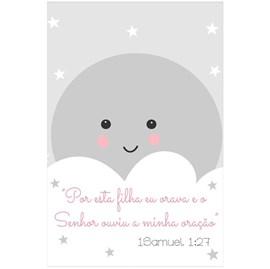 Quadro Decorativo Personalizado A4 | 1 Samuel 1:27