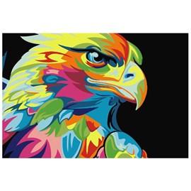 Quadro Decorativo Personalizado A4   Águia Color