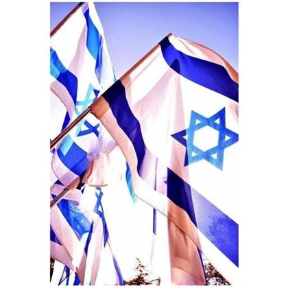 Quadro Decorativo Personalizado A4 | Bandeira de Israel