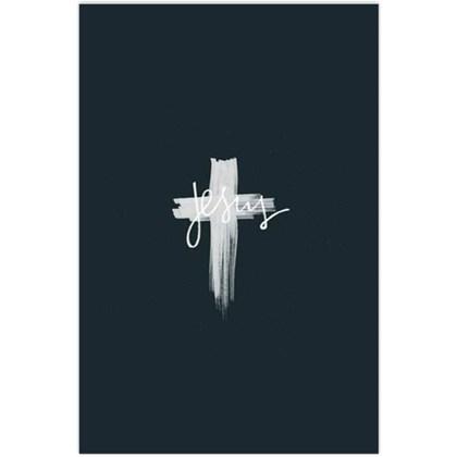 Quadro Decorativo Personalizado A4    Cruz Branca   Jesus