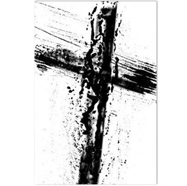 Quadro Decorativo Personalizado A4 | Cruz Pintura