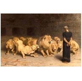 Quadro Decorativo Personalizado A4 | Daniel na Cova dos Leões